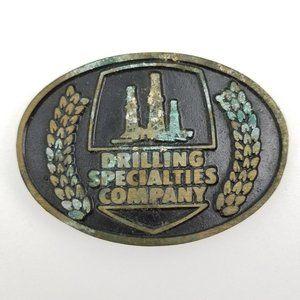 Vintage Drilling Specialties Oilfield Brass Buckle